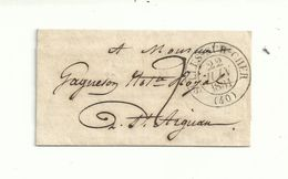 Cachet à Date Type 13..SELLES SUR CHER (40) .et Taxe Manuelle 2 ..le 22/06/1831........à Voir - 1801-1848: Précurseurs XIX