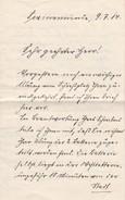 Handschriftlicher Brief Von 1914 - Swinemünde - 3 Seiten (30573) - Historische Dokumente