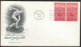 United States USA Cincinnati 1948 / Gymnastics / 100th Anniversary Of American Turners Society / Discus - Gimnasia