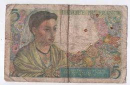 Billet/France / Banque De France /Cinq Francs/ Berger/ 1943    BILL159 - 1871-1952 Circulated During XXth