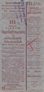 Haushaltsausweis Für Entrahmte Frischmilch - Deutschland - Britische Besatzungszone 1948 (30576) - Historische Dokumente