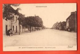 MNW-23  Montcombroux-les-Mines Rue Principale.  Circulé Sous Enveloppe. - Frankrijk