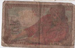 Billet / France / Banque De France/ Vingt Francs / Pêcheut/ 1950     BILL161 - 1871-1952 Anciens Francs Circulés Au XXème