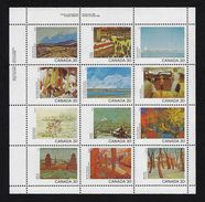 CANADA, 1982, # 966a, UL CANADA DAY,  MNH  12 Stamps - Blocs-feuillets