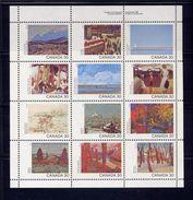 CANADA, 1982, # 966a, UR Narrow.  CANADA DAY,  MNH  12 Stamps - Blocs-feuillets