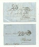 2 Cachets à Date Sans ANNEE Sur Bloc Dateur............à Voir - 1801-1848: Précurseurs XIX