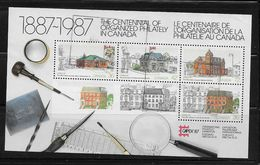 Canada #1125A, CAPEX 87:USED   1987 Various Post Office - Blocs-feuillets