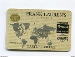 """Carte Publicitaire Imitant Une Carte De Crédit 1996 """"Frank Laurens's Paris / Carte Privilège - Chevignon - Cartes De Crédit (expiration Min. 10 Ans)"""