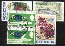 BERMUDA, Yv 184, 244, 250, 280, Used, F/VF, Cat. € 3,00 - Bermudes