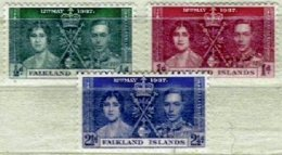 FALKLAND ISLANDS, Yv 75/7, * MLH, VF/XF, Cat. € 3,00 - Falkland