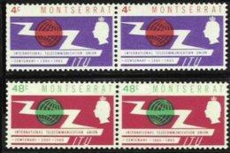 MONTSERRAT, Yv 157/8, SG 158/59 V1, ** MNH, VF/XF - Montserrat