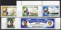 MONTSERRAT, Yv 466, 468/71, ** MNH, VF/XF - Montserrat