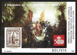 BOLIVIA, Souvenir Sheets, Mi Bk150, (*) MNG, F/VF, Cat. € 23,00 - Bolivie