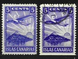 SPAIN, CANARIAS, Gv 184/5, */o M/U, F/VF - Emisiones Nacionalistas