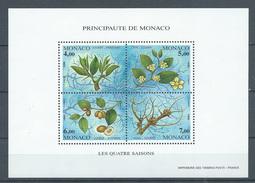 Monaco Bloc-feuillet YT N°68 Les Quatre Saisons Du Jujubier Neuf ** - Blocs