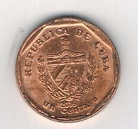 Cuba 1 Centavo  Convertible 2016, AUNC, No Paypal For This Kind Of Item.  FREE SHIP. TO USA. - Cuba