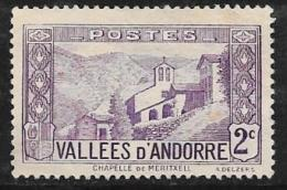 Andorra, French, Scott # 24 Unused No Gum Meritxell, 1932 - French Andorra