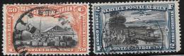 Belgian Congo, Scott # C1,C3 Used Congo River Wharf, View, 1920 - Belgian Congo