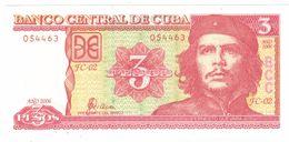 Cuba 3 Pesos 2006 , UNC.  FREE SHIP. TO USA. - Cuba