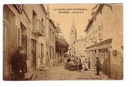 43 Dunieres Grande Rue Cpa Animée Edit Depeyre Tabacs à Dunieres - France