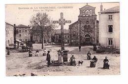 43 Cistrières Place De L' Eglise Cpa Animée Edit Beal - France
