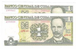 Cuba 1 Pesos 2016 , AUNC. (1.15 Usd X 1 Piece) FREE SHIP. TO USA. - Cuba