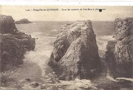 1206. PRESQU'ILE DE QUIBERON . DANS LES COULOIRS DE PORT-BARA A PLEINE MER . NON ECRITE - Quiberon