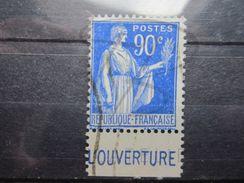 """VEND BEAU TIMBRE DE FRANCE N° 368 + PUBLICITE """" L'OUVERTURE """" !!! (a) - Advertising"""