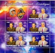 Chad 2013 Stamps Vostok-2 Spacecraft Spaceman Gherman Titov And Scientist Mstislav Keldysh Two MS - Space