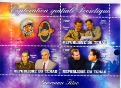 Chad 2013 Stamps Vostok-2 Spacecraft Spaceman Gherman Titov MS A - Africa