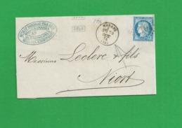 LETTRE MARANS CHARNTE 1874 N° 60 - 1849-1876: Période Classique