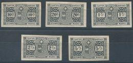 1701 - AARGAU Fiskalmarken Proben Auf Karton - Steuermarken