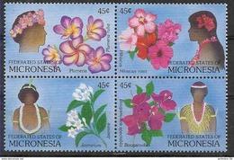 1989 MICRONESIE 83-86** Fleurs - Micronésie