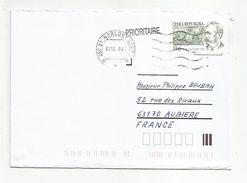 TCHEQUE REPUBLIQUE LETTRE DE KARLOVY VARY POUR LA FRANCE 2007 - Tchéquie