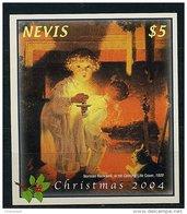 Lot 118 - B 15 - Nevis** Bloc N°  248 - Noël. Tableau De N. Rockwell - Central America