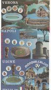 """CALCIO - Italia """"90 - 12 Cartoline Ufficiali Del Campionato Mondiale Di Calcio, Nuove RARE - Football"""