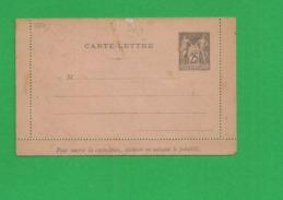 Carte Lettre Sage 25 Centimes - Storia Postale