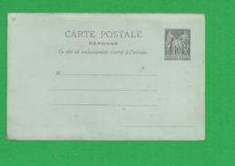 Carte Partie Reponse  Sage 10 Centimes - Storia Postale