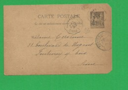Carte Sage 10 Centimes - Storia Postale