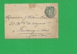 Entier Lettre  Sage 5 Centimes - Storia Postale