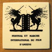 CARREAU FESTIVAL ET MARCHE INTERNATIONAL DU FILM D'AMIENS / CERABATI CHATEAUROUX MADE IN FRANCE 8.6.85. - Non Classés