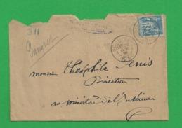 Lettre Sage 15 Centimes Obl Douai Gare - Storia Postale