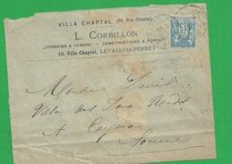 Lettre Sage 15 Centimes Obl Paris 74 - Storia Postale