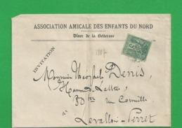 Lettre Sage 5 Centimes Obl Amicale Des Enfants Du Nord - Storia Postale