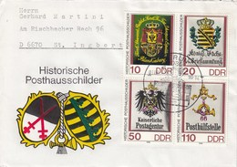 D PU  3306 - 3309  Historische Posthausschilder - Fortmat 36X45mm, Berlin 1085 - Privatumschläge - Gebraucht
