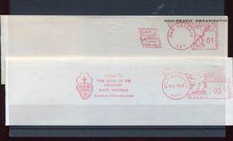25636 U.s.a.  2 Red Meter/freistempel/ema/1963 San Antonio+springfield Jesuspi Passio,bible Missionaries Missions(cuts) - Christianity