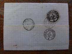 Du 20.09.17_LAC De Montauban,  Sur N°29; Illustrée ,réexpediée,4 Ambulants Verso!!!!départ 1€!!!!!! - 1863-1870 Napoléon III Lauré