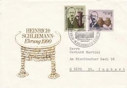 D FDC  3364 - 3365 100.Todestag Von Heinrich Schliemann - Ehrung 1990  , Berlin 1085 - FDC: Sobres