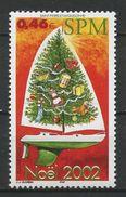 SPM MIQUELON 2002 N° 787 ** Neuf MNH Superbe Cote 1.80 € Noël Christmas Bateaux Sailboat Phare Animaux - Neufs
