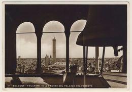 AK CP Bologna Panorama Dalla Torre Del Palazzo Del Podesta Glocke  _Normalformat - Bologna